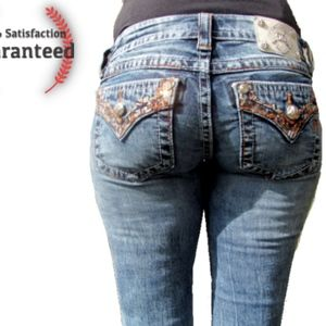 Miss Me Buckle Jeans Slim Skinny Fit Sequin Enhanc